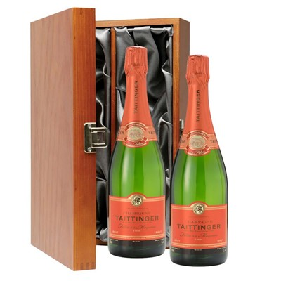 Taittinger Les Folies de la Marquetterie 75cl Twin Luxury Gift Boxed (2x75cl)