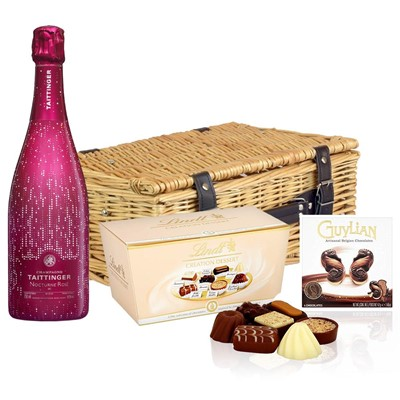 Taittinger Nocturne Rose City Lights Edition And Chocolates Hamper