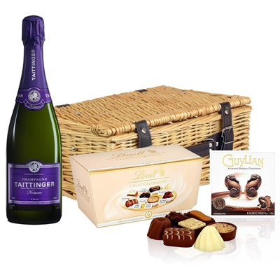 Taittinger Nocturne Sec Champagne 75cl And Chocolates Hamper