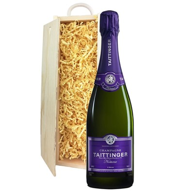 Taittinger Nocturne Sec Champagne 75cl In Pine Gift Box