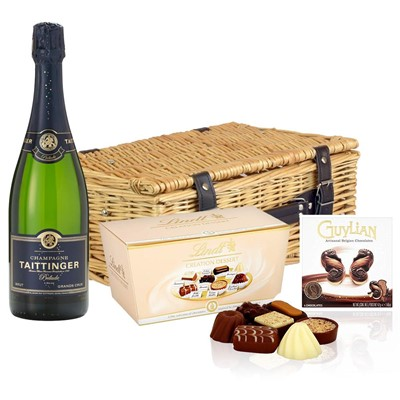 Taittinger Prelude Grands Crus Champagne 75cl And Chocolates Hamper
