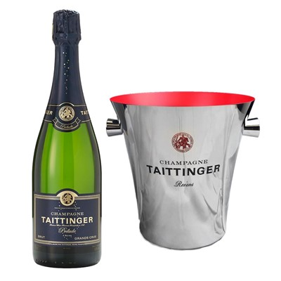 Taittinger Prelude Grands Crus Champagne 75cl And Taittinger Ice Bucket Set