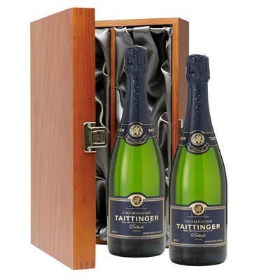 Taittinger Prelude Grands Crus Champagne 75cl Twin Luxury Gift Boxed (2x75cl)
