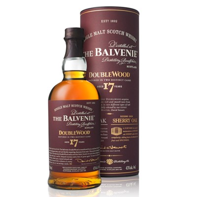 Another fantastic invention from the workbench of Balvenie Malt Master David Stewart  a 17 year old version of the best selling DoubleWood. Still initially matured in Whisky Oak casks before being switched to sherry wood to finish, the extra years give it extra depth without being overpowering. . Price includes free UK Mainland Delivery, and Exports and international delivery available.