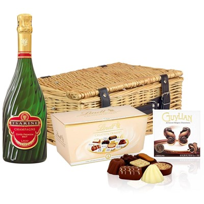 Tsarine Cuvee Premium Brut NV 75cl And Chocolates Hamper