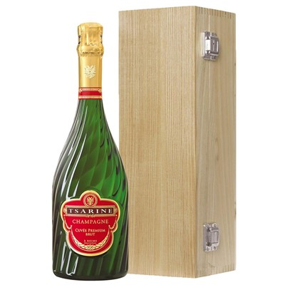 Tsarine Cuvee Premium Brut NV 75cl Oak Luxury Gift Boxed