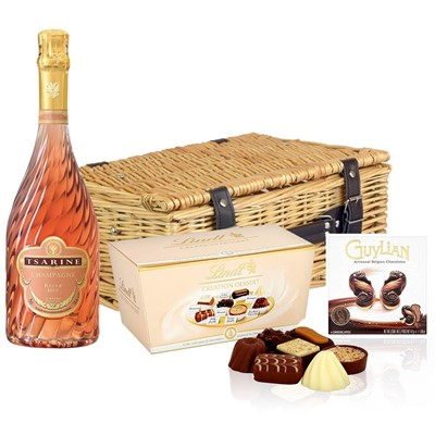 Tsarine Rose Champagne NV 75cl And Chocolates Hamper