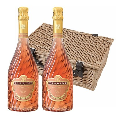 Tsarine Rose Champagne NV 75cl Twin Hamper (2x75cl)