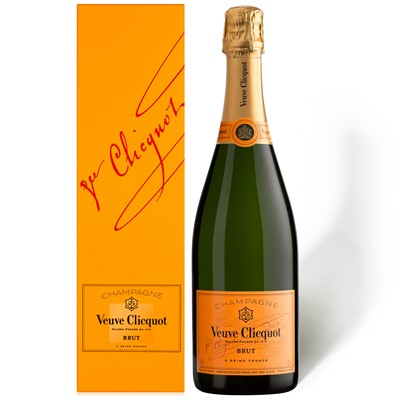 Buy Send a single bottle of Veuve Clicquot Yellow Label NV Champagne (75cl) Price includes free UK Mainland Delivery, and international delivery available.