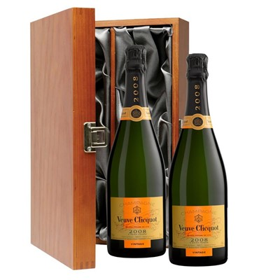 Veuve Clicquot 2008 Brut Vintage Champagne 75cl Twin Luxury Gift Boxed (2x75cl)