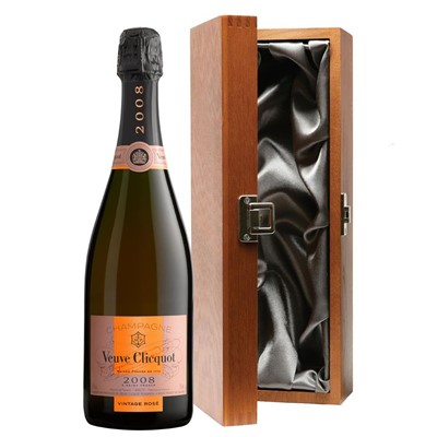 Veuve Clicquot 2008 Vintage Rose Champagne 75cl in Luxury Gift Box