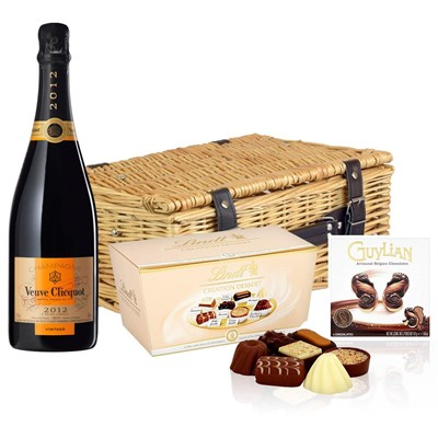Veuve Clicquot 2012 Brut Vintage Champagne 75cl And Chocolates Hamper