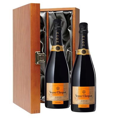 Veuve Clicquot 2012 Brut Vintage Champagne 75cl Twin Luxury Gift Boxed (2x75cl)