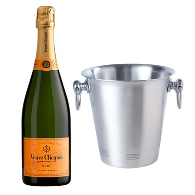 Veuve Clicquot Brut Champagne 75cl With Ice Bucket Set