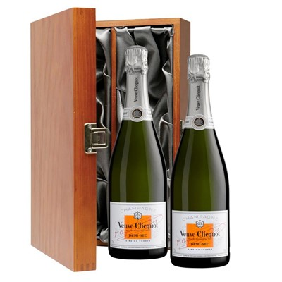Veuve Clicquot Demi-Sec Champagne 75cl Twin Luxury Gift Boxed (2x75cl)