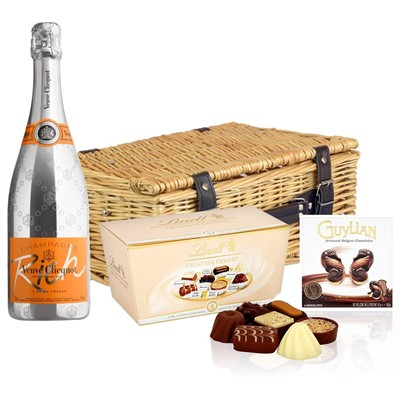 Veuve Clicquot Rich Champagne 75cl And Chocolates Hamper