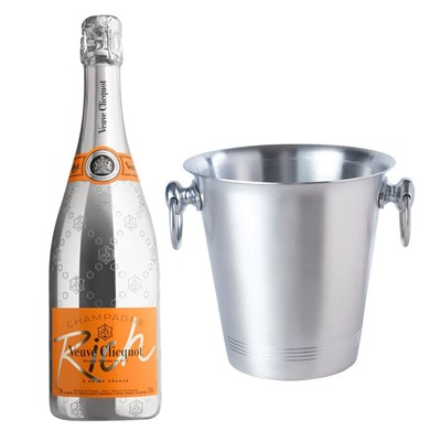 Veuve Clicquot Rich Champagne 75cl With Ice Bucket Set