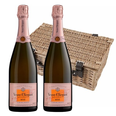 Veuve Clicquot Rose Champagne 75cl Twin Hamper (2x75cl)