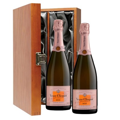Veuve Clicquot Rose Champagne 75cl Twin Luxury Gift Boxed (2x75cl)