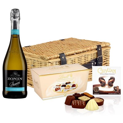 Zonin Cuvee DOC 1821 Prosecco 75cl And Chocolates Hamper