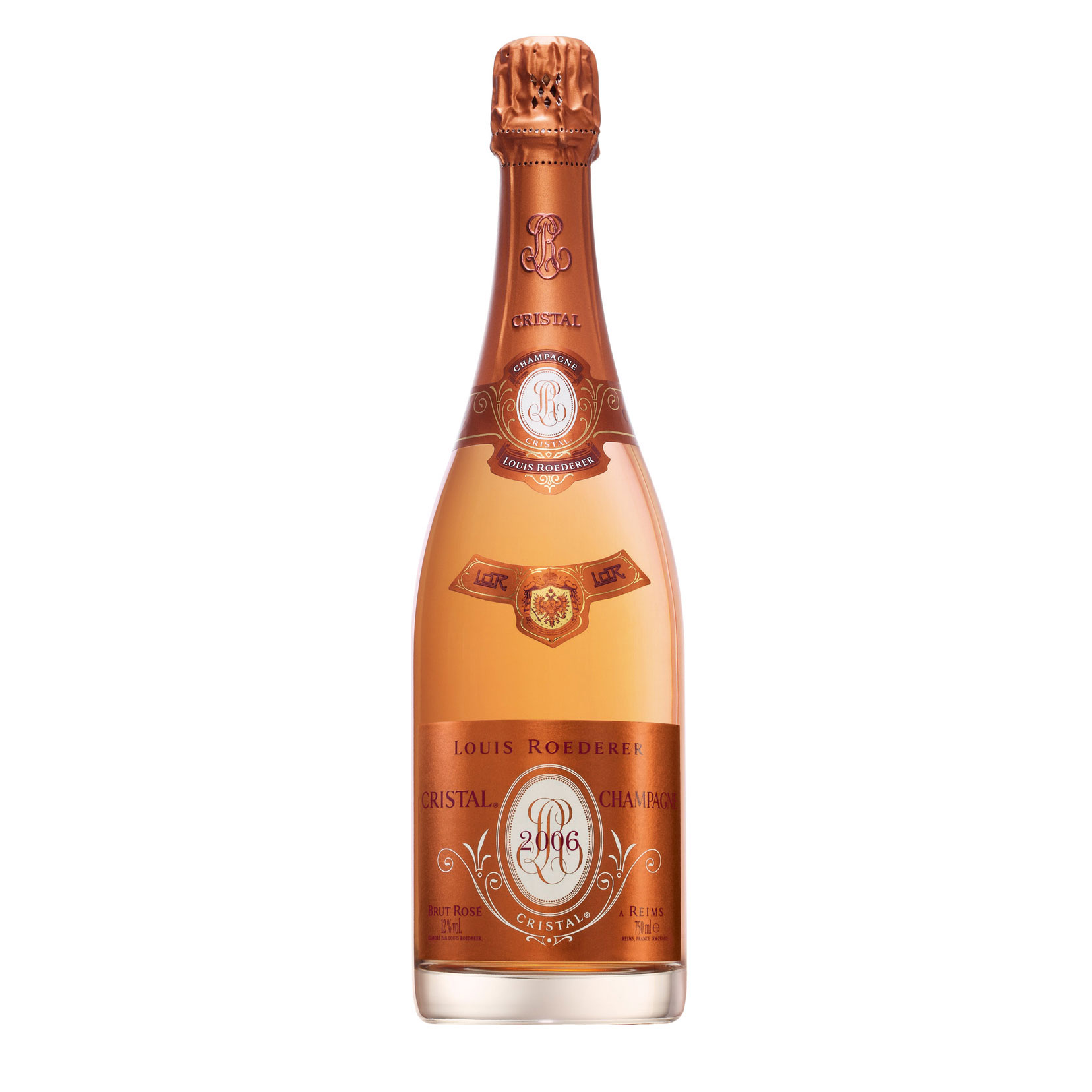 buy a single bottle of louis roederer cristal rose vintage 2006 champagne 75cl presented in a. Black Bedroom Furniture Sets. Home Design Ideas